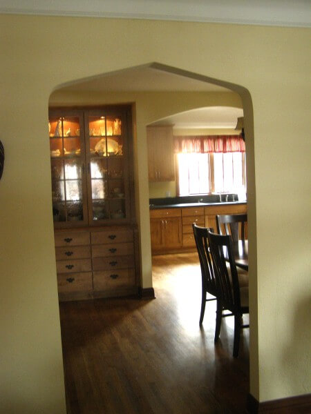 Denver Kitchen Remodel Custom Archway and Cabinetry