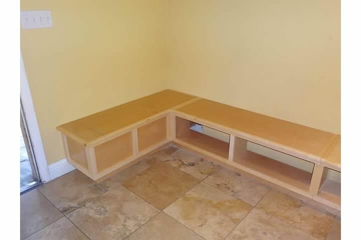 Custom breakfast nook bench seating corner