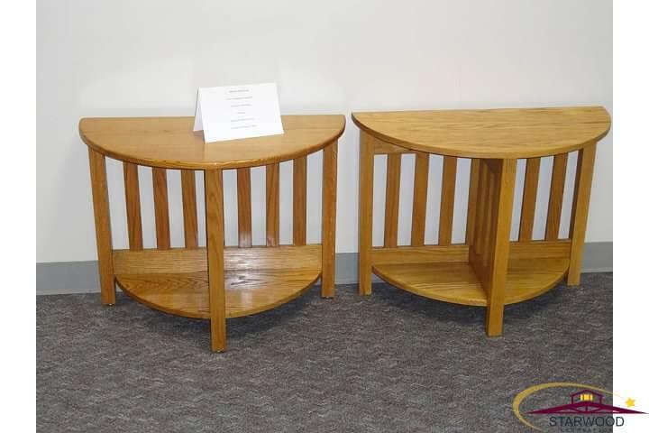 Custom wood side tables