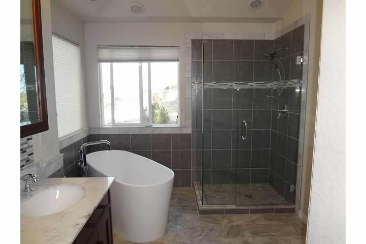 Glass Shower After Modern Bathroom Remodel