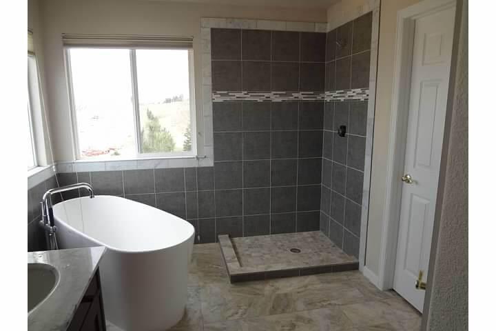Step-In Shower After Modern Bathroom Remodel
