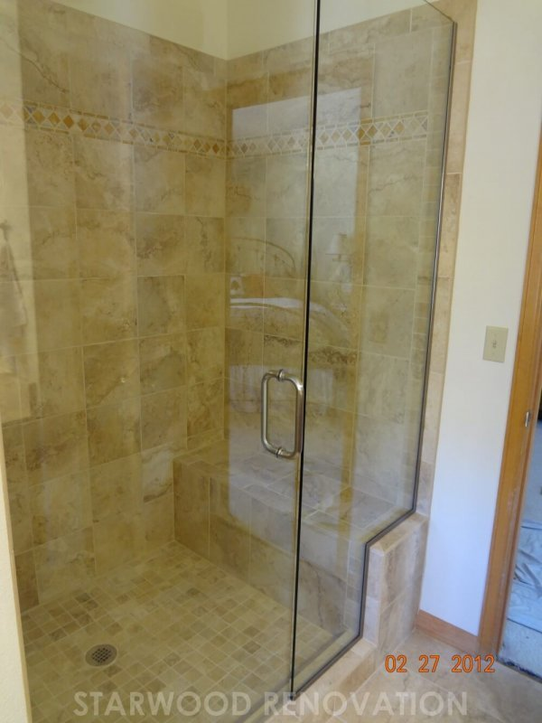 Denver Bathroom Remodel With Custom Bench Seat