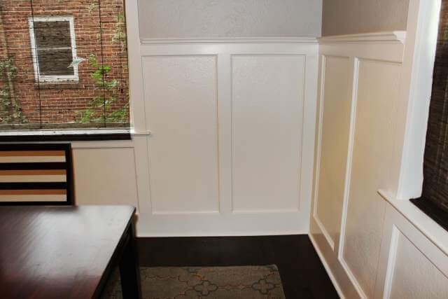 Denver Home Remodel Tudor Craftsman Dining Custom Wainscoting