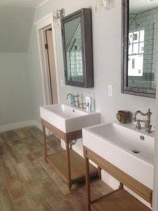 Denver Bathroom Remodel With Freestanding Vanities