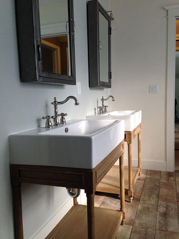 Denver Bathroom Remodel With Freestanding Vanities