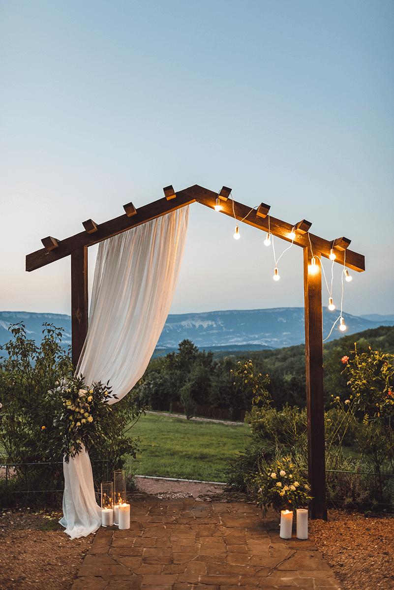 Denver Wedding Arch for rent gable