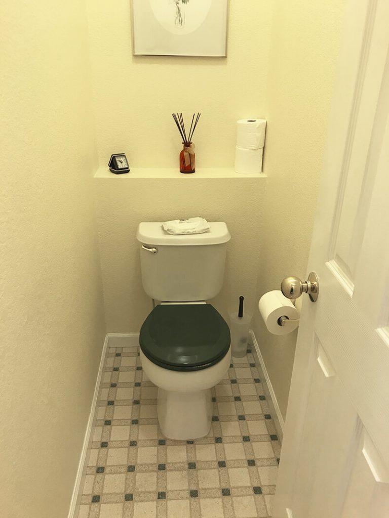 Water closet before remodel of bathroom in Lakewood