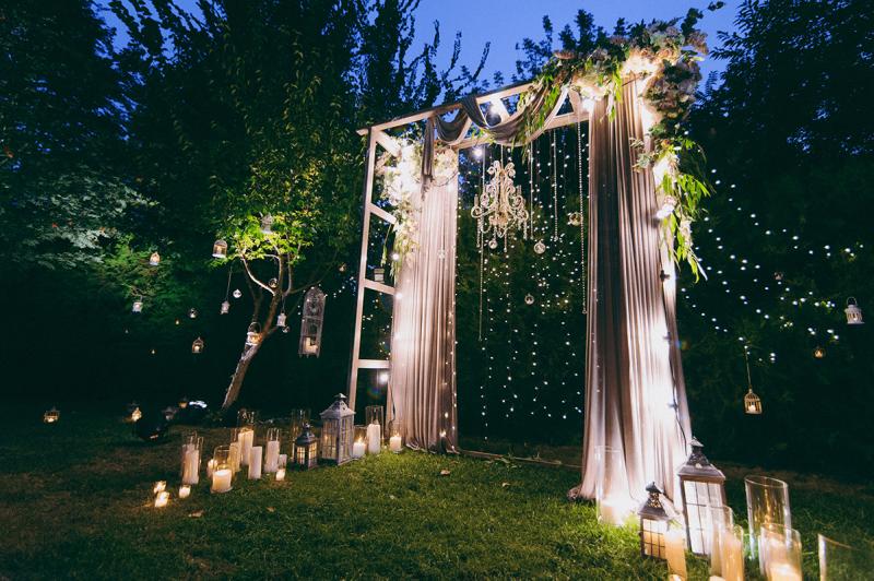 Denver Wedding Arch with Swag