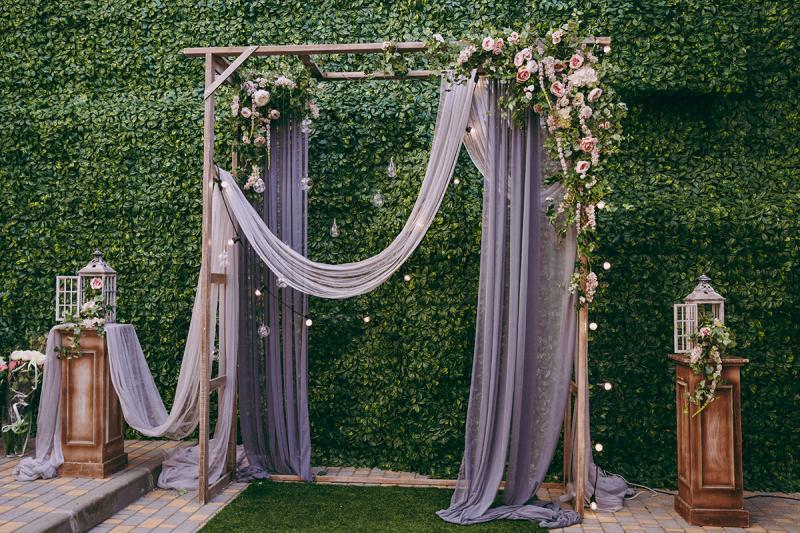 Denver Wedding Arch with Fabric