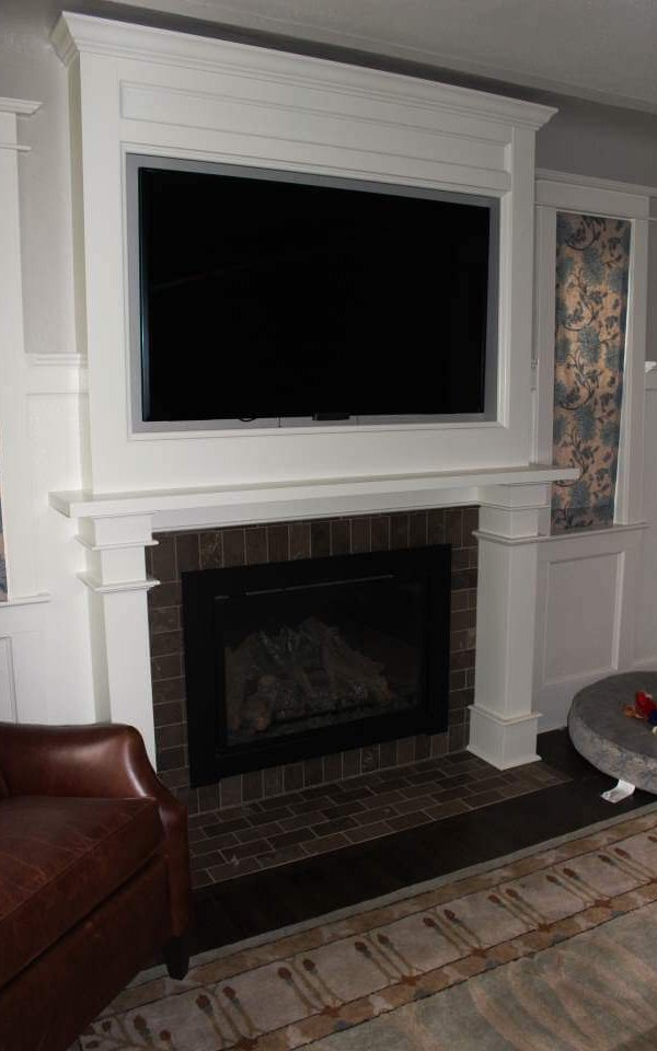 Denver Whole House Remodel Custom Fireplace